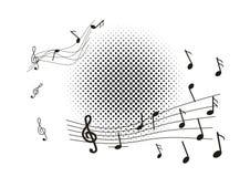абстрактное нот предпосылки Стоковое Изображение