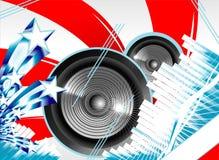 абстрактное нот флага предпосылки мы Стоковая Фотография RF