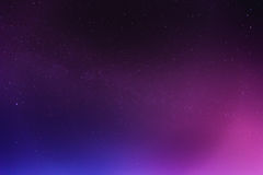 Абстрактное ночное небо с предпосылкой звезд Стоковое Изображение RF