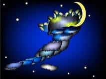абстрактное ночное небо Стоковое Изображение RF