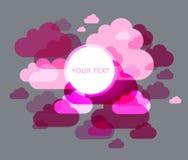 абстрактное облако предпосылки Стоковая Фотография RF