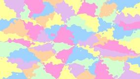Абстрактное оживленное запятнанное видео петли предпосылки безшовное - влияние акварели - цветовая гамма младенца милая пастельна иллюстрация штока