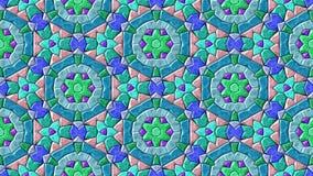 Абстрактное оживленное изменяя видео петли предпосылки мозаики калейдоскопа драгоценности безшовное иллюстрация вектора