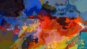 Абстрактное оживленное мерцание запятнало видео петли предпосылки безшовное - влияние splotch акварели - живое spect полного цвет бесплатная иллюстрация