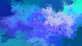 Абстрактное оживленное мерцание запятнало видео петли предпосылки безшовное - влияние splotch акварели - цвет ночного неба иллюстрация вектора