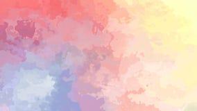 Абстрактное оживленное мерцание запятнало видео петли предпосылки безшовное - влияние splotch акварели - цветовая гамма радуги за иллюстрация вектора