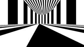 Абстрактное оптически искусство чернота выравнивает белизну Безшовная петля иллюстрация штока