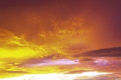 Абстрактное оранжевое небо захода солнца стоковое фото