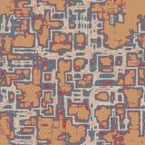 Абстрактное органическое techno - безшовная картина вектора Стоковые Фото