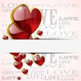 абстрактное лоснистое сердце Стоковые Фотографии RF