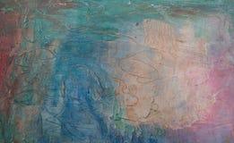 абстрактное покрашенное масло предпосылки handmade стоковое изображение