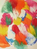 абстрактное покрашенное цветастое Стоковое Фото