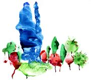Абстрактное покрашенное backgrounds27 Пестротканая предпосылка сделала в смешанной технологии f бесплатная иллюстрация
