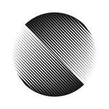 Абстрактное полутоновое изображение выравнивает предпосылку круга Стоковое фото RF