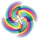 Абстрактное полутоновое изображение stripes предпосылка круга Стоковое фото RF