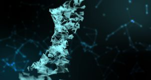 Абстрактное представление цифровой бинарной молекулы дна винтовой линии плекса на голубой предпосылке градиента с каналом альфы,  бесплатная иллюстрация
