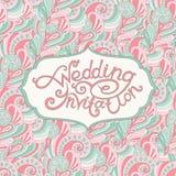 Абстрактное приглашение свадьбы Стоковое Изображение RF