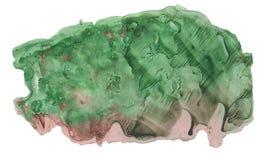 Абстрактное пятно акварели с брызгает и распыливает Стоковые Фото