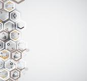 Абстрактное решение дела компьютерной технологии интернета Стоковое Изображение RF