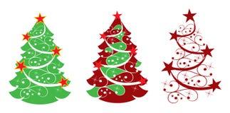 абстрактное рождество играет главные роли вал Стоковые Изображения RF