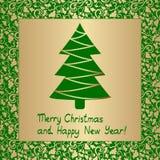 абстрактное рождество карточки Стоковое Изображение RF