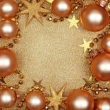 абстрактное рождество предпосылки золотистое Стоковые Фото