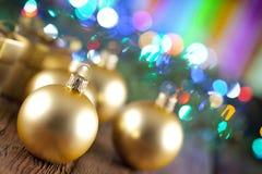 абстрактное рождество шариков предпосылки Стоковые Фото