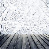 абстрактное рождество предпосылки Красивая деревянная таблица доски в f Стоковое Фото