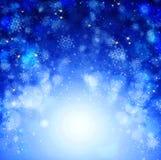 абстрактное рождество сини предпосылки Стоковые Изображения RF