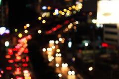 Абстрактное светлое движение нерезкости на дороге Стоковые Изображения RF