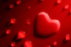 Абстрактное сердце воды Стоковое фото RF