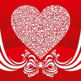 абстрактное сердце карточки Стоковые Изображения