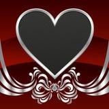 абстрактное сердце карточки Стоковое Изображение