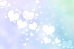 Абстрактное сердце освещает предпосылку иллюстрация вектора