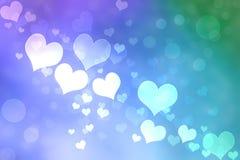 Абстрактное сердце освещает предпосылку бесплатная иллюстрация