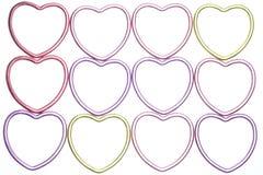 абстрактное сердце предпосылки металлическое Стоковые Изображения