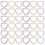 абстрактное сердце предпосылки металлическое Стоковое Фото
