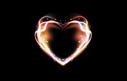 абстрактное сердце предпосылки Стоковое Изображение