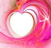абстрактное сердце фрактали Стоковые Изображения