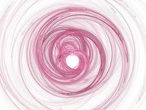 абстрактное сердце фрактали Стоковая Фотография
