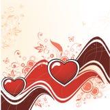 абстрактное сердце Стоковое Изображение