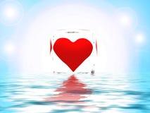 абстрактное сердце baqckgrounds Стоковая Фотография RF
