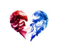 Абстрактное сердце на белизне Стоковые Фотографии RF