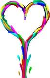 абстрактное сердце Стоковые Фото