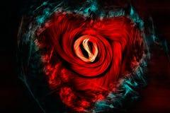 Абстрактное сердце Стоковое Фото