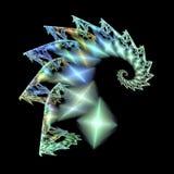 Абстрактное сияющее перо на черной предпосылке Стоковое Изображение