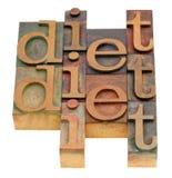 абстрактное слово диетпитания Стоковые Фотографии RF