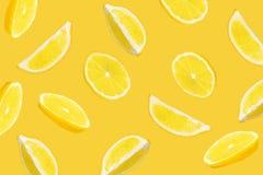 Абстрактное смешивание кусков лимона стоковые фото