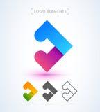 Абстрактное собрание шаблона логотипа стрелки Материальный стиль дизайна Стоковая Фотография RF