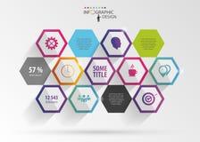Абстрактное современное шестиугольное infographic цифровая иллюстрация 3d иллюстрация штока